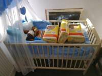 Cot and mattress