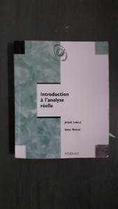 Introduction à l'analyse réelle, Jacques Labelle, Armel Mercier