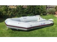 Silver Marine boat/tender with Mariner 6hp long shaft engine