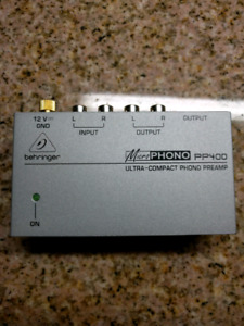Record player preamp (Behringer PP400)