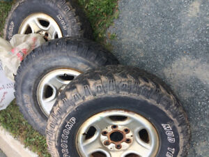 3 tires, good condition