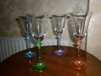 Galway Crystal Wine Glasses (four). Never used.