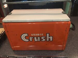 Vintage orange crush cooler