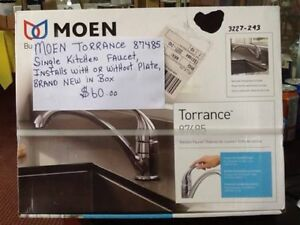 brand new in box,moen single kitchen faucet