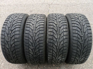 (4) 205/55R16 ICE BLAZER WINTERS ON RIMS (LOW KM)