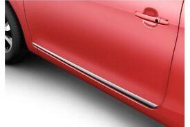 Genuine Citroen C1 2014> 3 Door Chrome Door Mouldings New 1611198080