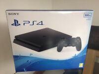 BLACK PS4 SLIM 500GB - Brand New In Box