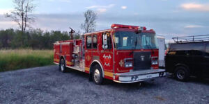Spartan/ E-One Pumper Truck-Fire Engine-400HP Detroit 6V92