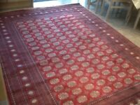 Premium quality,superb man-made silk(synthetic)rug 290cm x200cm-used for 2nights only for exhibition