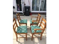 4 dining chairs and table