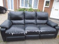 LEATHER SOFA 3 SEATER RECLINER *****FREE TO COLLECT*****