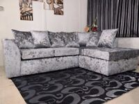 ★★ HIGH QUALITY CRUSHED VELVET SOFA SUITES ★★ IN CORNER AND 3+2 SOFAS