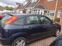 2001 Ford Focus - spacious, reliable and low mileage. MOT expires February - never failed so far
