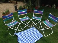 4 folding Camping or Caravaning Stools/Chairs £2.50 each, £9.00 for 4