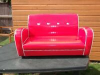 Kids Red PVC Sofa/Settee