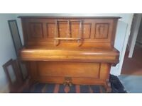 Upright piano, 1930's Obermeier, free, buyer collects