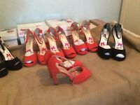 Ladies suede shoes six pairs new boxed