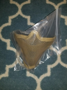 Airsoft mask tan paintball