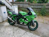 Kawaski Ninja ZXR 636 A1P. Motorbike Green colour 636 cc