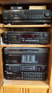 Stereo System and Cabinet.
