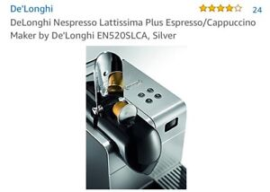 Delonghi Nespresso Lattissima machine