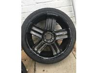 """20"""" american cabo universal rims for sale all with good tyres £200 ono"""