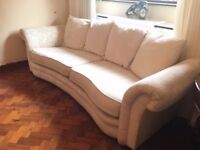 SOFA TWO SET BIG SOFA & VERY COMFY ARMCHAIR NIECE FLORAL DESIGNER SOFA REMOVABLE COVERS DELIVER FREE