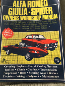 Owners Workshop Manual for Alfa-Romeo Guilia-Spider