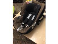 Cybex Mama papa car seat and isofix base.
