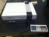 Nintendo vintage UK NES console plus 2 games plus controller