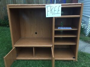 Free beautiful wooden wall unit with shelves