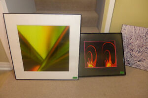 Professional Abstract Art, Custom Framed, Large Selection 1 of 3
