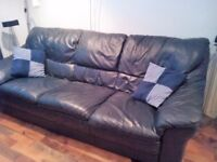 Leather sofa's 3 and 2 seater
