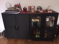2 Cabinets with doors (mod. IKEA BRIMNES)