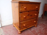 Pine Chest Of Drawers. Excellent Condition Throughout,