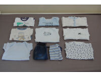 Baby boy clothes 0-3 month bundle (mostly new clothes)