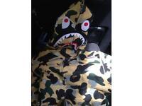 3mm bape shark hoodie