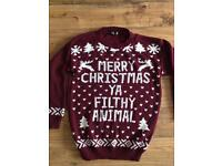 Men's Christmas jumper m/l home alone