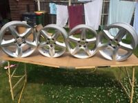 "4 Vauxhall Zafira Alloys 6Jx17"" Not kerbed but require refurbishment. £200.00 ono"