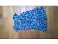 Navy and Teal summer dress / Tunic size 14