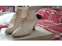 Beautiful cream/ivory wedding shoes, size 3