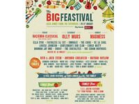 The Big Feastival camping weekend tickets 2 adults 2 children BARGAIN