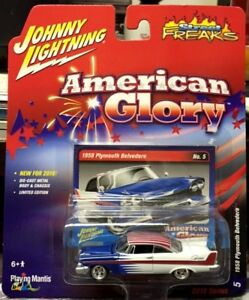 "Johnny Lightning ""American Glory"" 1958 Plymouth Belvedere #2"