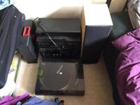 VINYL PLAYER SOUND SYSTEM AND SOME 80's LP's