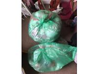 1 and half green bags girls clothing