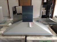 100 cm stainless steel chimney hood. Marked. RRP £229 12 month gtee