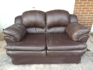 Gently Used Leather Couch & Love Seat