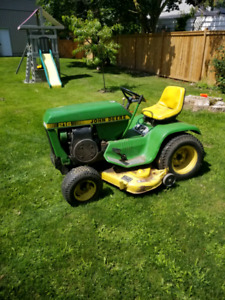 """JOHN DEERE 216 WITH 42"""" DECK, ROTO TILLER AND SNOW BLOWER"""