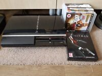 PS3 CONSOLE AND 9 GAMES