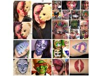 Self taught FACE PAINTING, GLITTER TATTOO, HALLOWEEN make up